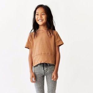 Zara girls brown rust color shirt
